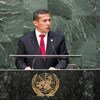 El presidente de Perú, Ollanta Humala, en la Asamblea General de la ONU Foto archivo: ONU/Cia Pak