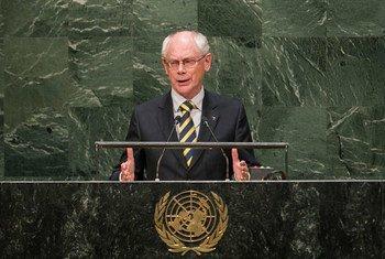 Le Président du Conseil européen, Herman Van Rompuy. Photo ONU