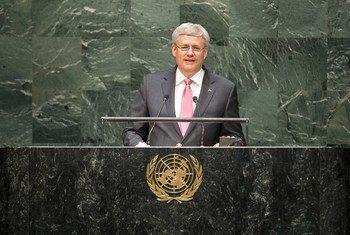 Le Premier ministre du Canada, Stephen Harper. Photo ONU/Kim Haughton