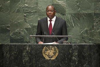 Le Ministre des affaires étrangères du Sénégal, Mankeur Ndiaye. Photo ONU/Kim Haughton
