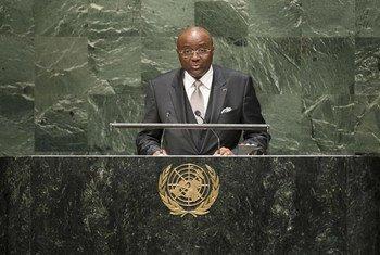 Le Ministre des affaires étrangères du Cameroun, Moukoko Mbonjo. Photo ONU/Kim Haughton