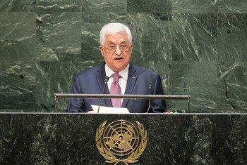 Le Président de l'Etat de Palestine, Mahmoud Abbas. Photo ONU