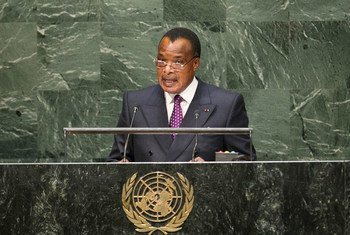 Le Président de la République du Congo, Sassou Nguesso. Photo ONU/Cia Pak