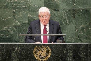 El presidente de Iraq, Mohammed Fuad Masum  Foto,.  ONU/Amanda Voisard