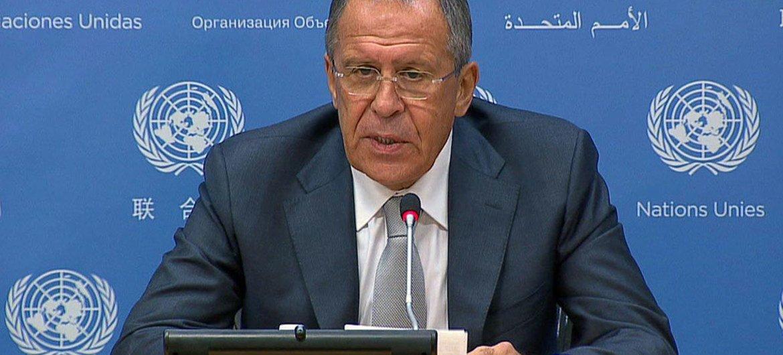 El ministro de Asuntos Exteriores de Rusia, Sergei Lavrov. Foto de archivo: ONU