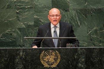 Le Premier ministre du Liban, Tammam Salam. Photo ONU/Amanda Voisard