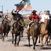 Indígenas mapuches se manifeistan contra las actividades de las empresas petroleras en sus tierras. Foto de archivo: WGIA/Alejandro Parellada