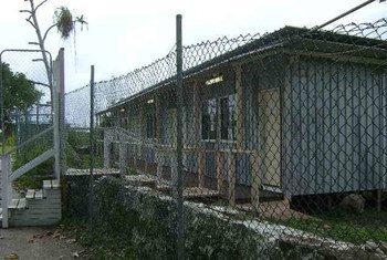 Centro de acogida usado por el gobierno de Australia para albergar a solicitantes de asilo en la isla de Nauru. Foto de archivo: ACNUR / N. Wright
