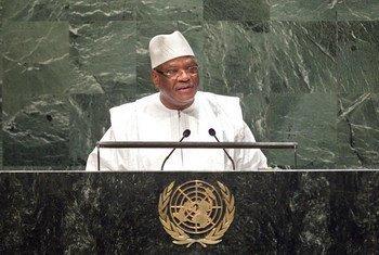 Le Président du Mali, Ibrahim Boubacar Keita.