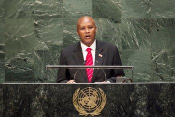 Prosper Bazombanza, Vice President of the Republic of Burundi, addresses the General Assembly.