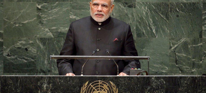 Prime Minister Narendra Modi of India addresses the General Assembly.