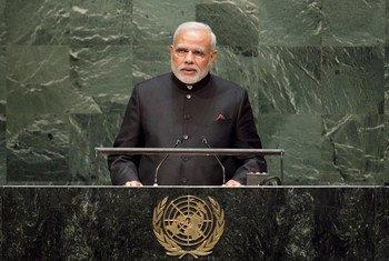 Le Premier ministre de l'Inde, Narendra Modi. Photo ONU/Cia Pak