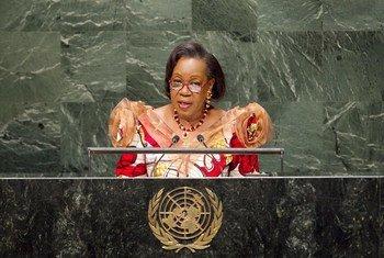 La présidente de la transition de la République centrafricaine, Catherine Samba Panza.