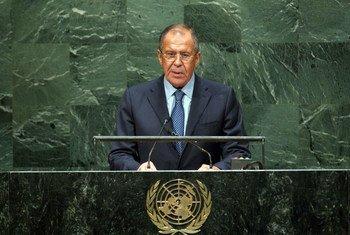 El ministro de Exteriores de la Federación Rusa, Sergey Lavrov  Foto archivo: ONU/Kim Haughton