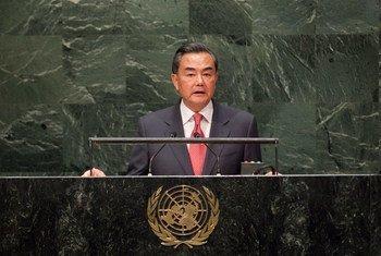 Le Ministre des affaires étrangères de la Chine, Wang Yi. Photo ONU/Kim Haughton