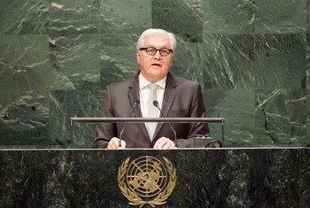 德国外交部长施泰因迈尔资料图片  联合国图片/Kim Haughton