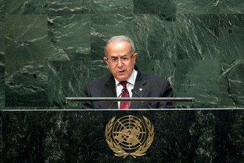 Le Ministre des affaires étrangères de l'Algérie, Ramtane Lamamra. Photo ONU/Kim Haughton