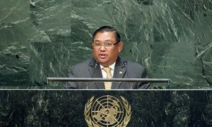 Foreign Minister Wunna Maung Lwin addresses the General Assembly.