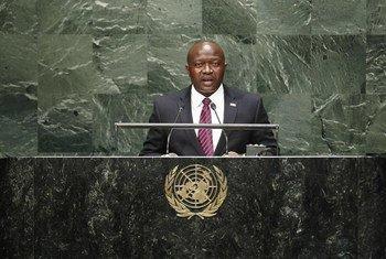 Le Ministre des affaires étrangères du Libéria, Augustine Kpehe Ngafuan. Photo ONU/Kim Haughton