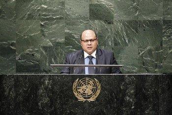 Le Ministre des affaires étrangères du Yémen, Jamal Abdullah Al-Sallal. Photo ONU/Loey Felipe