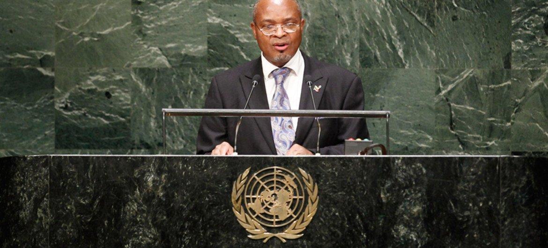 Le  Représentant permanent du Bénin auprès des Nations Unies, Jean-François Régis Zinsou. Photo ONU/Amanda Voisard