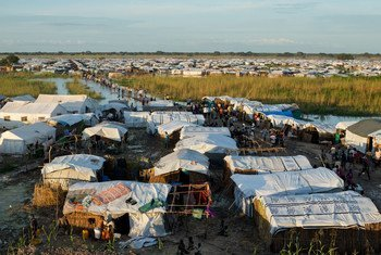 The Protection of Civilians (POC) site near Bentiu, in Unity State, South Sudan.