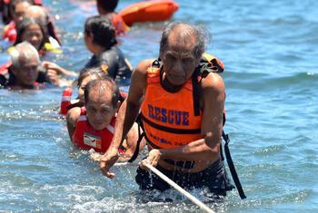 Capacitación sobre la reducción del riesgo de desastres en las Filipinas. Foto: UNISDR