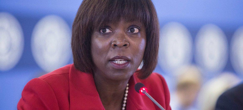 La Directrice Exécutive du Programme Alimentaire Mondial des Nations Unies (PAM), Ertharin Cousin. Photo : FAO/Giulio Napolitano