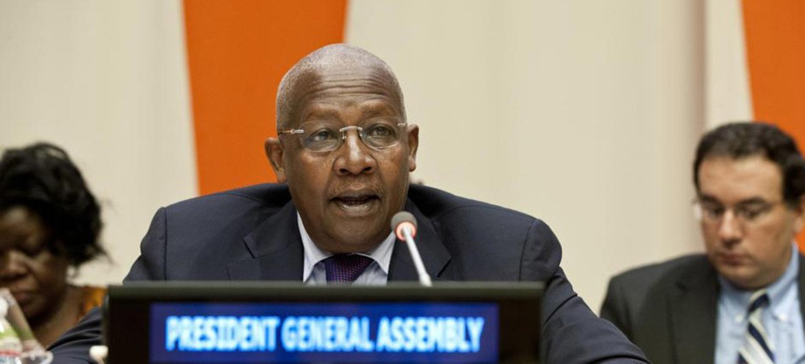 General Assembly President Sam Kutesa at a panel discussion kicking off 'Africa Week' at UN Headquarters.