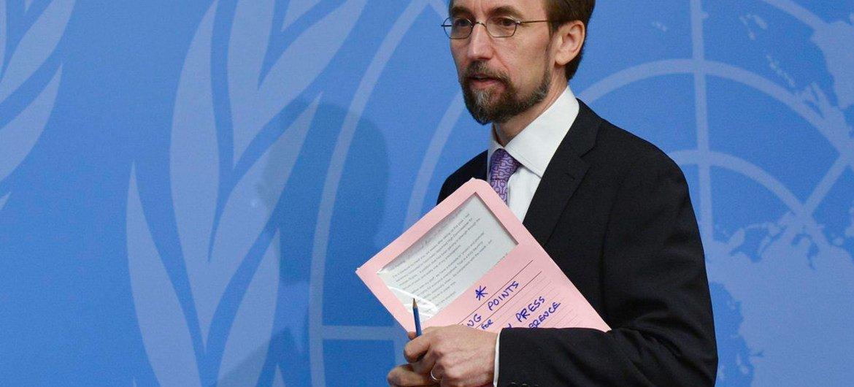 Le Haut-Commissaire des Nations Unies aux droits de l'homme, Zeid Ra'ad Zeid Al Hussein. Photo ONU/Jean-Marc Ferré