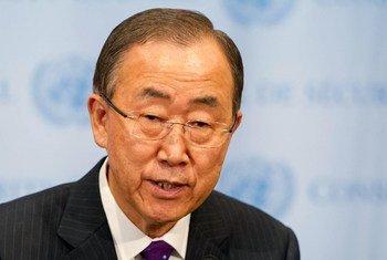 潘基文秘书长。联合国图片/Mark Garten