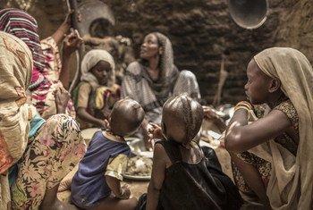 Un repas fourni par le Programme alimentaire mondial (PAM) et l'Union européenne au Tchad. Photo : PAM