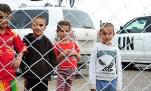Refugees in the Bahirka Camp near Erbil in Northern Iraq.