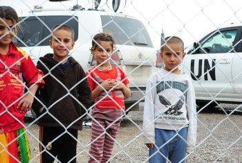 Des déplacés au camp de Bahirka, près d'Erbil, dans le nord de l'Iraq. Photo MANUI