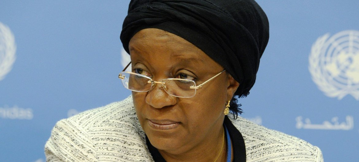 Special Representative of the Secretary-General on Sexual Violence in Conflict Zainab Hawa Bangura briefs journalists on her recent visit to South Sudan.