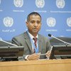 Special Rapporteur on the situation of human rights in Iran Ahmed Shaheed briefs the press.