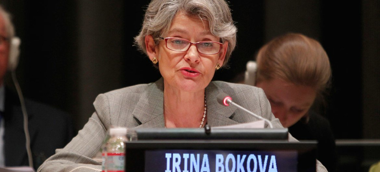 Director-General of the UN Educational, Scientific and Cultural Organization (UNESCO), Irina Bokova.