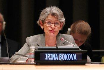 La Directora General de la UNESCO, Irina Bokova, abogó por la unidad en la defensa de una prensa libre. Foto de archivo: ONU/Devra Berkowitz