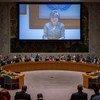 Kyung-wha Kang informando al Consejo de Seguridad. Foto: ONU/Loey Felipe