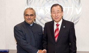 Secretary-General Ban Ki-moon (right) and Jose Ramos-Horta, newly-appointed chair of the High-Level Independent Panel on Peace Operations.