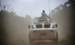 UN peacekeepers on patrol near Beni. (file photo)
