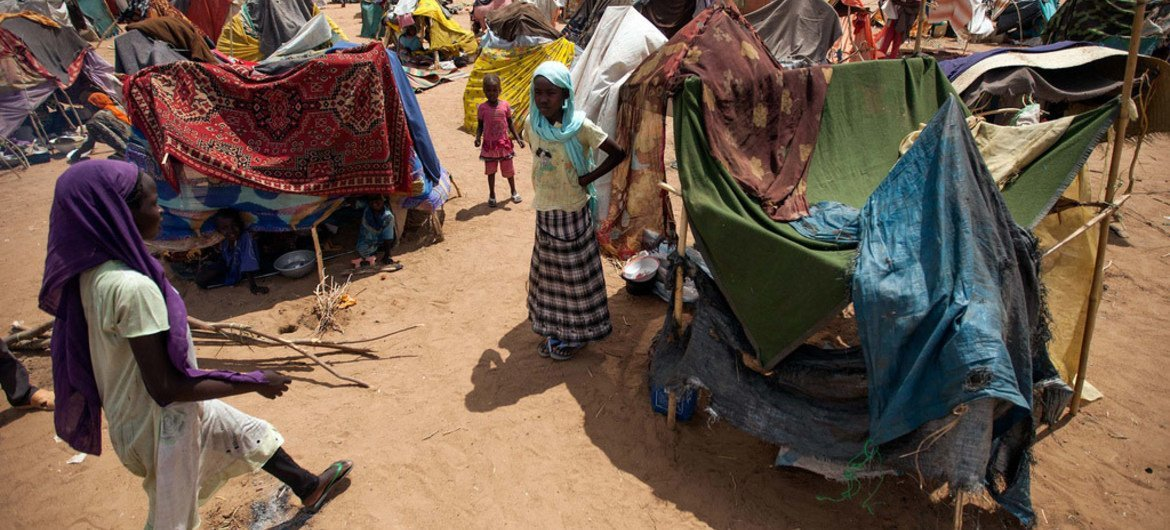 A section of the Kalma camp for internally displaced people (IDP), near Nyala, in South Darfur.