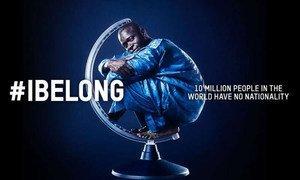 """L'une des images marquantes de la campagne """"I Belong (J'appartiens) créé par l'entreprise Benetton pour le compte du HCR."""