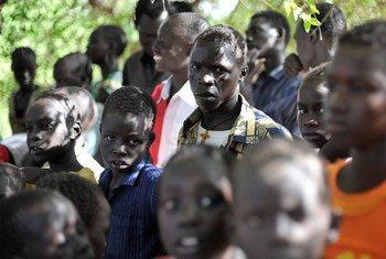 Refugees at Kakuma camp in Kenya.