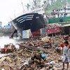 El tifónHaiyan tuvo graves consecuencias para la poblacion en Filipinas en noviembre de 2013 Foto. OCHA