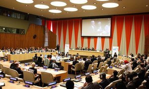A wide view of the ECOSOC Chamber.