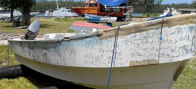 Skiff used by Somali pirates.