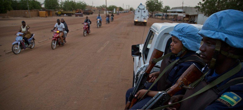 MINUSMA Police Unit on patrol in Gao, Mali.