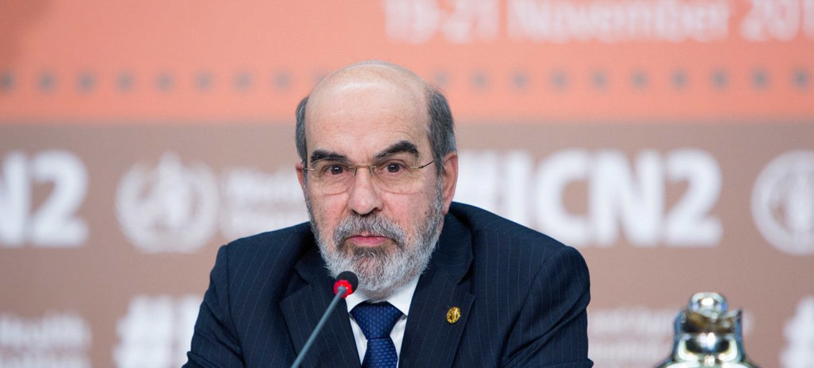 FAO Director-General José Graziano da Silva closes the  General Debate of the Second International Conference on Nutrition (ICN2) at FAO Headquarters in Rome.