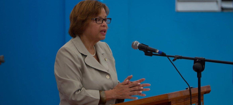 Head of the UN Mission in Haiti (MINUSTAH) Sandra Honoré.